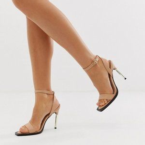 NEW ASOS DESIGN Harris Barely There Heeled Sandals
